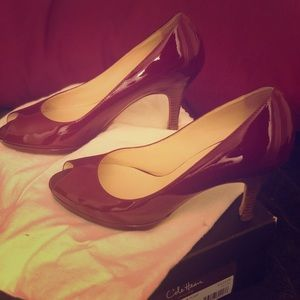 COLE HAAN - Size 9.5 red patent pumps!